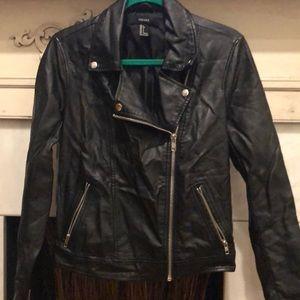 Slightly used faux leather jacket